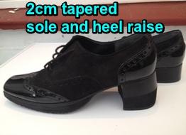 suede shoe raise